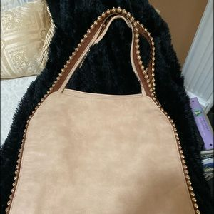 Big Buddha Studded Hobo Handbag Pocketbook-Large